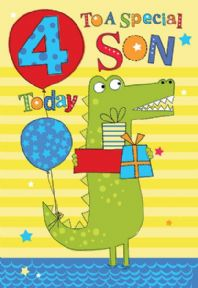 Son 4th Birthday Card